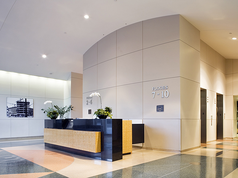 8383 Wilshire Lobby Remodel Before