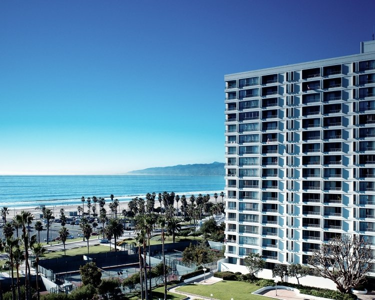 Santa Monica apartment with ocean background
