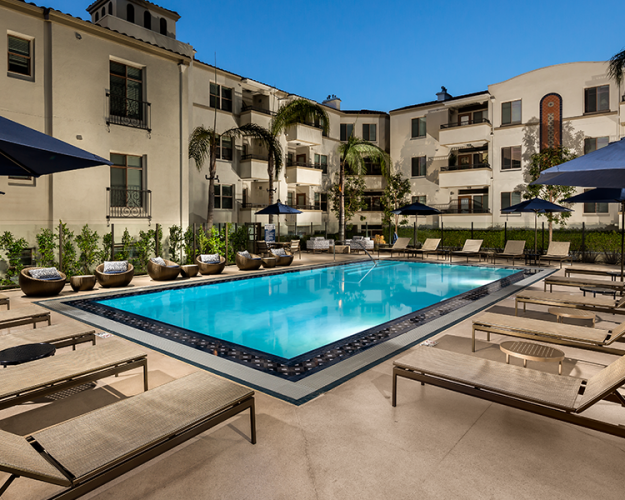 The Glendon Apartments in Westwood with pool
