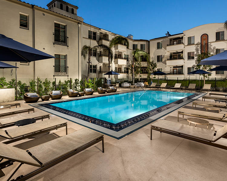The Glendon Apartments in Westwood with luxury pool